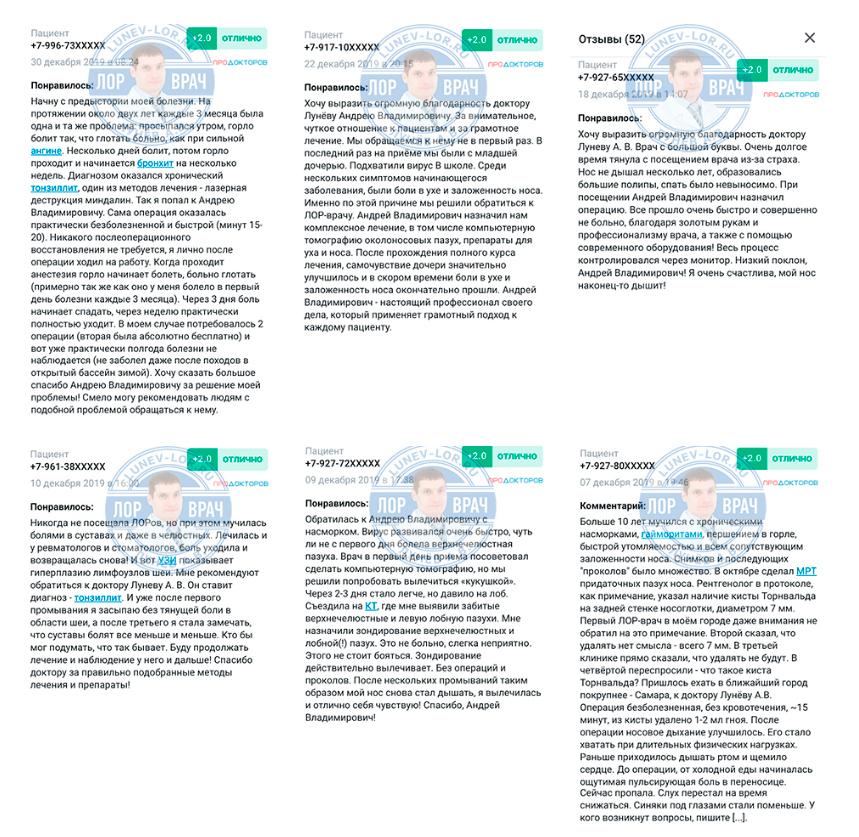 Отзывы за Декабрь 2019
